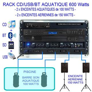 RACK AQUATIQUE CD/MP3/BT-600 WATTS