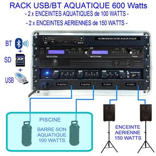 RACK AQUATIQUE MP3/BT -  600  WATTS