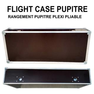 FLIGHT CASE PUPITRE PLEXI