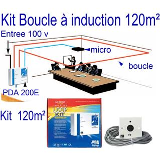 Amplificateur boucle à Induction Superficie 200 m2 Kit AKM1 RONDSON