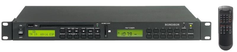 Tuner / CD MP3 et lecteur USB SD - ER-100CTUM RONDSON